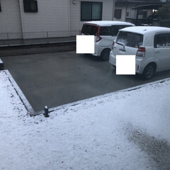 雪/今朝の景色/暮らし/フォロー大歓迎 おはようございます😃 夜に雪が降り、みぞ…