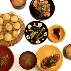 手作り/オリジナルうまい美味い焼き厚豚肉編/海老🍤と玉ねぎの皮なし焼売/かぼちゃ🎃/豆腐とニラとネギの味噌汁/おうちごはん/... おはようございます(*^_^*)  昨日…