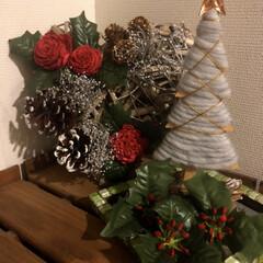 クリスマスインテリア/玄関/マンション玄関 玄関もクリスマスインテリアに模様替え