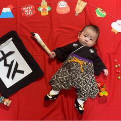 習字/生後100日/寝相アート/赤ちゃん/あけおめ/フォロー大歓迎/... 明けましておめでとうございます!! お出…
