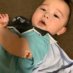 アンパンマン/予防接種/赤ちゃん/フォロー大歓迎 今日は予防接種へ🏥行きました🚗 ³₃ 今…