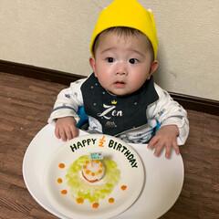 離乳食初期/離乳食/ハーフバースデーケーキ/ハーフバースデー/赤ちゃん/フォロー大歓迎/... 昨日で生後6ヶ月になり ハーフバースデー…(3枚目)