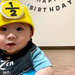 生後6ヶ月/2分の1/ハーフバースデーケーキ/ハーフバースデー/離乳食/赤ちゃん/... ハーフバースデーの王冠の数字を 作成する…