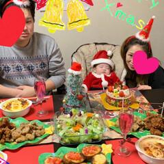 サンタクロース/赤ちゃん/おうち/2018/フォロー大歓迎/ペット/... 禅くん、初めてのクリスマス❤️  パパが…(3枚目)