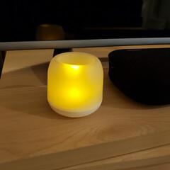 LED/ダイソー/照明器具/オシャレ/ルームライト ライト縛りで投稿してみます。  テレビの…(1枚目)