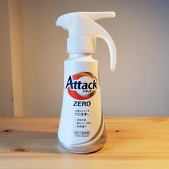 アタック ZERO ワンハンド 本体 400g | 花王(液体洗剤)を使ったクチコミ「アタックZERの洗濯洗剤、ワンプッシュで…」