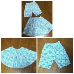 パンツ/スカート/お揃い/息子/娘/ファッション/... 娘と息子にお揃いの生地で、スカートとパン…