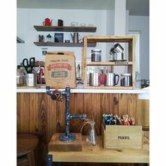 (セール)COLEMAN(コールマン)キャンプ用品 ファミリーテーブルウェア ダブルステンレスマグ 300 170A5023 | COLEMAN(弁当箱)を使ったクチコミ「カフェ風なキッチンめざしてます。木を基調…」