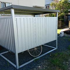 自転車小屋/DIY/組み立て インターネットで自転車小屋を購入🎵  自…