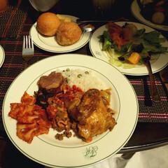 ビュッフェ/ホテル/ナイロビ/ケニア ナイロビのフェアビューホテルのビュッフェ…