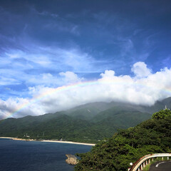 夏空/虹の橋/ギフト/虹/屋久島 屋久島で遭遇した 虹の橋