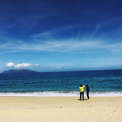 夏休み/浜辺/青空/お盆/海/屋久島いなか浜/... 胸いっぱいに青と碧 波の音の向こうに 遠…
