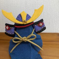 花柄布/鯉のぼり/兜 鯉のぼりと兜を作りました  ちりめんコー…(2枚目)