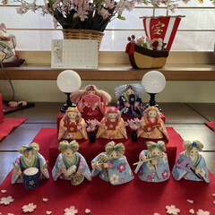 ビョーン/ひなまつり/雛人形 今年のお雛様 お人形バージョン 親王を作…(1枚目)