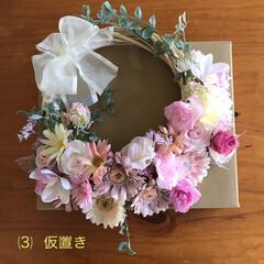 フラワーリース/ウエディング💒 お友達の勤め先の方の結婚祝いに『フラワー…(4枚目)