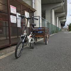 自転車リメイク/野地板/リアカー