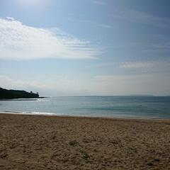 波打ち際/砂浜/海/おでかけ/暮らし * 朝から家族で 海へ☀🌴🐚 まだ昼間は…