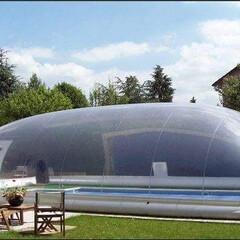 エアードーム/温室プール/プール開き/プール 簡単に温室プールに早変わり!