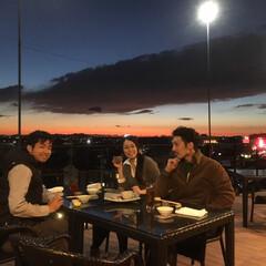 和食/豊橋/秋/よし味/グルメ/フード/... お客様が、テラスにて    お食事・お酒…