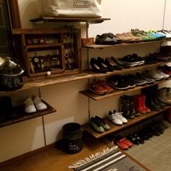 靴の収納/靴箱収納/靴箱/見せる収納/DIY/収納