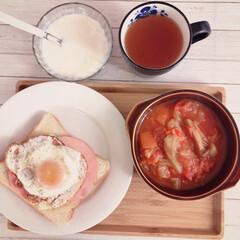 暮らし 朝ごはん ヨーグルトは無脂肪乳のカスピ海…