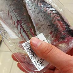 安いくて新鮮/無料でさばいてくれる/スーパー/刺身/鯵 前からあるサービスですけど、魚を無料でさ…