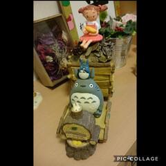 とうもころし/メイちゃん/トトロ/ペット/ハンドメイド/猫/... 友人家のトトロの植木鉢いつも花を枯らして…