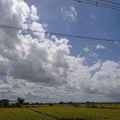 夏の空 台風がくる前の空… 雲の流れが早かったぁ…