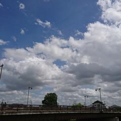 夏の空 台風がくる前の空… 雲の流れが早かったぁ…(3枚目)