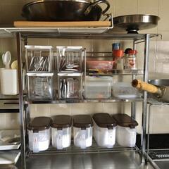 100均/DIY/キッチン収納/キッチン雑貨/キッチン/limiaキッチン同好会 キッチンラックを新しくしたので、ダイソー…(1枚目)