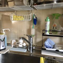 除菌アイテム/ダイソー/100均/キッチン収納/キッチン雑貨/キッチン/... キッチンの洗剤周りをなんとかしたくてミニ…