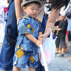 ファッション ママが作ってくれた甚平とこの帽子イケてる…
