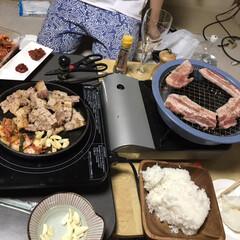 秋/おうちごはん/グルメ/フード/キッチン雑貨/肉/... サムギョプサルパーティーをした時の写真で…