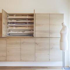 造作/壁収納 造作した棚には着物を収納