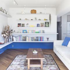 造作棚/壁収納/リビング 広々としたリビング。壁には飾り棚を。
