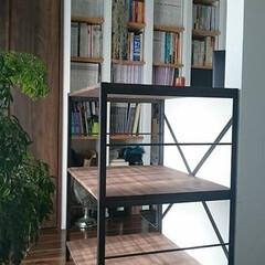 見せる収納/収納/黒皮鉄/インダストリアル/オーダー家具/アイアン家具/... こちらは設計士のお客様からのオーダー品で…