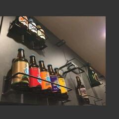 黒皮鉄/壁面収納棚/壁面収納/オーダー家具/アイアン家具 東京都の石塚商店様よりオーダーの壁面ディ…