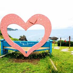 お出かけ/悲恋物語の絶景/恋人岬/日本海 国道 8号線を 西に走って少し坂を登った…