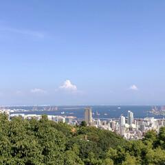 神戸/おすすめアイテム/令和の一枚/至福のひととき/風景/ブルー お墓参りのついでにちょっとハイキング。 …