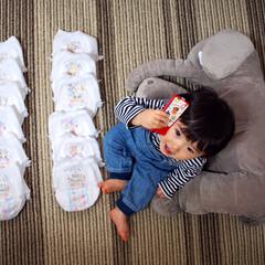 成長/孫ちゃん りくとが、11ヶ月になりました。 アンパ…(1枚目)