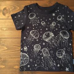 イラスト/らくがき/こども服/Tシャツ/くらげ/雑貨/... 新作らくがきTシャツ3。〜くらげTシャツ…