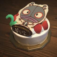 こども/おうち時間/誕生日/バースデーケーキ/だだんだん/アンパンマン/... バースデーケーキは 結人の大好きな だだ…
