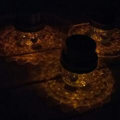 ビー玉/ガーデンランプ/ガーデンライト/LED照明/LEDライト/100円均一/... 行き当たりバッタリDIY♪  早く帰って…(2枚目)