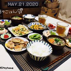 フォロー大歓迎/ランチョンマット/KOMERI/セリア/ダイソー/住まい/...          5/21(木) 夕食 …(2枚目)
