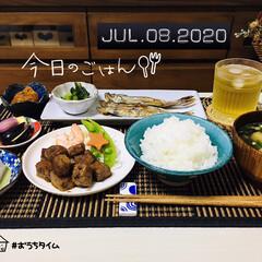 ランチョンマット/キッチン雑貨/至福の時間/おうちタイム/おうちごはん/夕食/...         7/8(水) 夕食  ご…