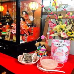 カルディ/ナチュラルキッチン/おやつ/ひとくちラスクいちご味/SAKURA Latte/お雛様/...         2/24(月) 🕒おやつ…