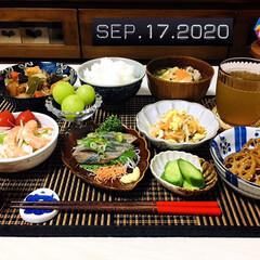 七味唐辛子/フォロー大歓迎/キッチン雑貨/ランチョンマット/シルク/ワッツ/...         9/17(木) 夕食  …