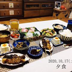 フォロー大歓迎/リミとも部/暮らし/刺身/ランチョンマット/KOMERI/...         10/17(土) 夕食 …