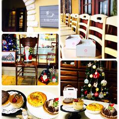 スイーツ/クリスマス/クリスマスツリー/クリスマス雑貨/土台付きテーブル/ケーキ/... 至福の時間でマロンタルト・さつまいもパン…