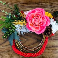 しめ縄飾り/プレゼント/リミアの冬暮らし/フォロー大歓迎   私にも素敵な しめ縄飾りとお手紙✉️…